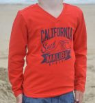 Jongens Shirt lange mouw Racing Red - California