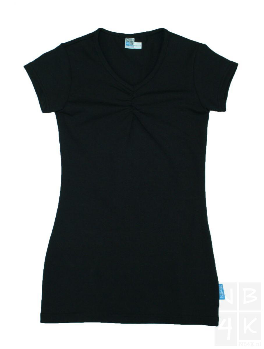 Zwart Basic Jurkje.Basic Tuniek Zwart Tricot Jurkje Newbasics4kids Basic Kinderkleding
