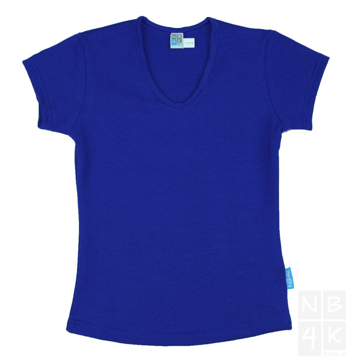 T shirt, korte mouw blauw